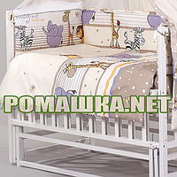 Комплект детского постельного белья в кроватку 3 эл. АФРИКА наволочка, простынь, пододеяльник 3150 Бежевый