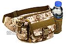 Сумка поясная (наплечная), тактическая Protector Plus Y116 с отделением для фляги, фото 4