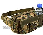 Сумка поясная (наплечная), тактическая Protector Plus Y116 с отделением для фляги, фото 6
