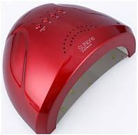 Красная гибридная лампа для ногтей SUNone 48W