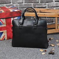Стильная мужская сумка-портфель из PU кожи. Черная.