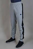 Спортивные брюки Adidas мужские на манжете Светло-серые