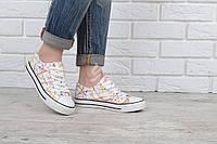 Кеды слипоны женские белые Happy на шнуровке, Белый, 41