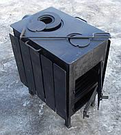 Буржуйка стальная  с конфорками (обогрев до 50 м.кв), КОЧЕРГА В ПОДАРОК, фото 1
