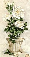Схема для вышивания бисером Tela Artis Белые розы ТК-026