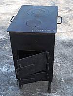 Буржуйка стальная с конфорками (обогрев до 45 м.кв), КОЧЕРГА В ПОДАРОК