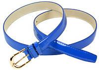Яркий женский ремень 2х100 см из искусственной кожи 2309 blue