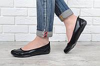 Балетки мокасины женские кожаные Скетчерс черные Турция, Черный, 41