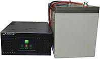 Комплект резервного питания ИБП Luxeon UPS-600NR + АКБ Vimar BG110-12 110Ah для 8-13ч работы газового котла, фото 1