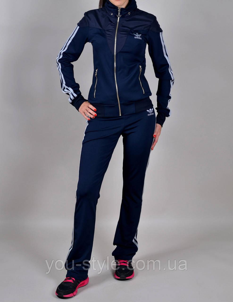 Женский спортивный костюм Adidas 1030 Темно-синий - Интернет магазин
