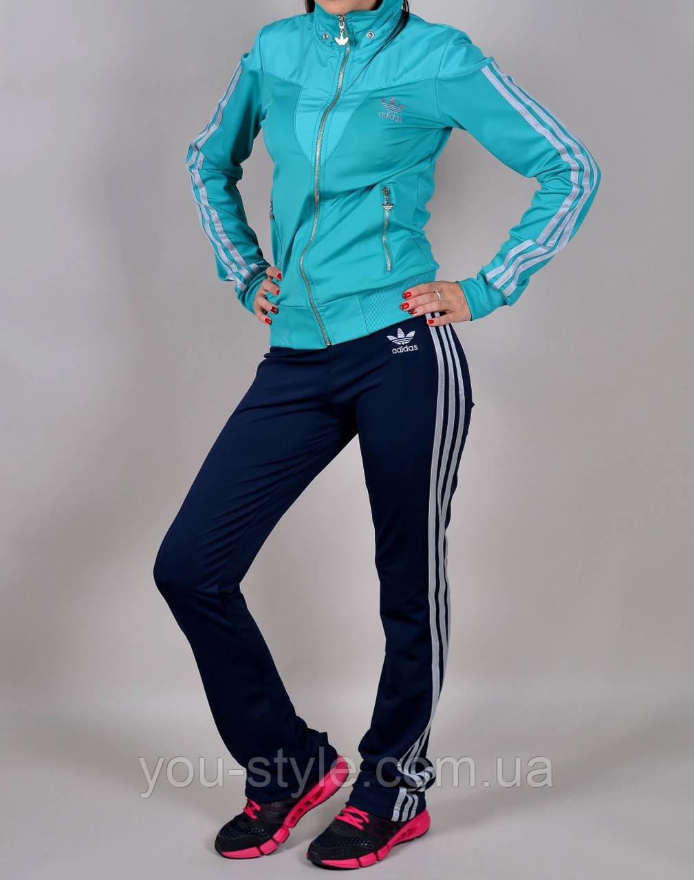 Женский спортивный костюм Adidas 1031 Бирюзовый - Интернет магазин