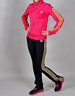 Женский спортивный костюм Adidas 1032 Розовый, черный