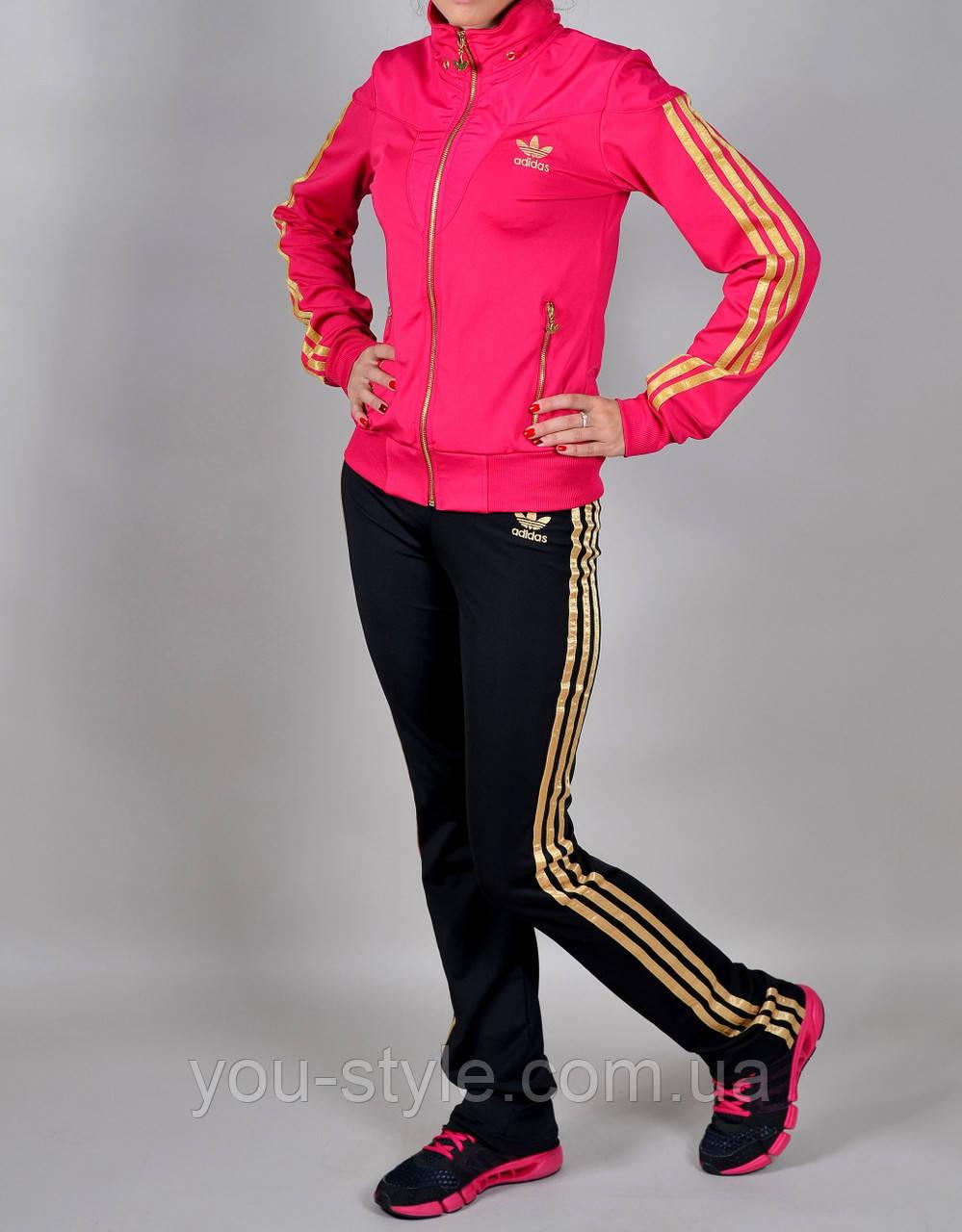 розовый спортивный костюм адидас
