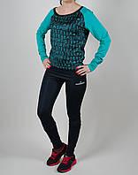 Женский спортивный костюм Adidas Stella 1086 Бирюзовый