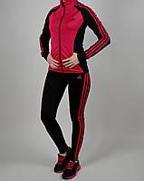 Женский спортивный костюм Adidas 1092 Малиновый