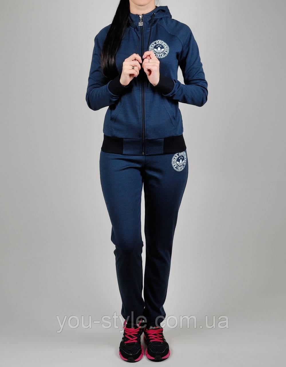 9d4e7042 Женский спортивный костюм Adidas Originals 1109 Тёмно-синий - Интернет  магазин