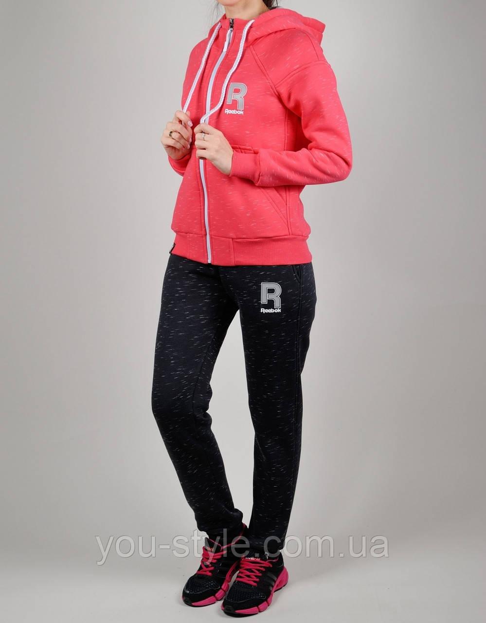 f7e0c3d7 Зимний женский спортивный костюм Reebok 1117 Коралловый - Интернет магазин