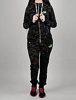 Зимний женский спортивный костюм Puma 1122 Чёрный
