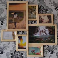 Деревянная рамка коллаж на 7 фото., фото 1