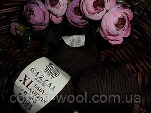 Gazzal Baby cotton XL (Беби коттон ХЛ)  3436 темный шоколад
