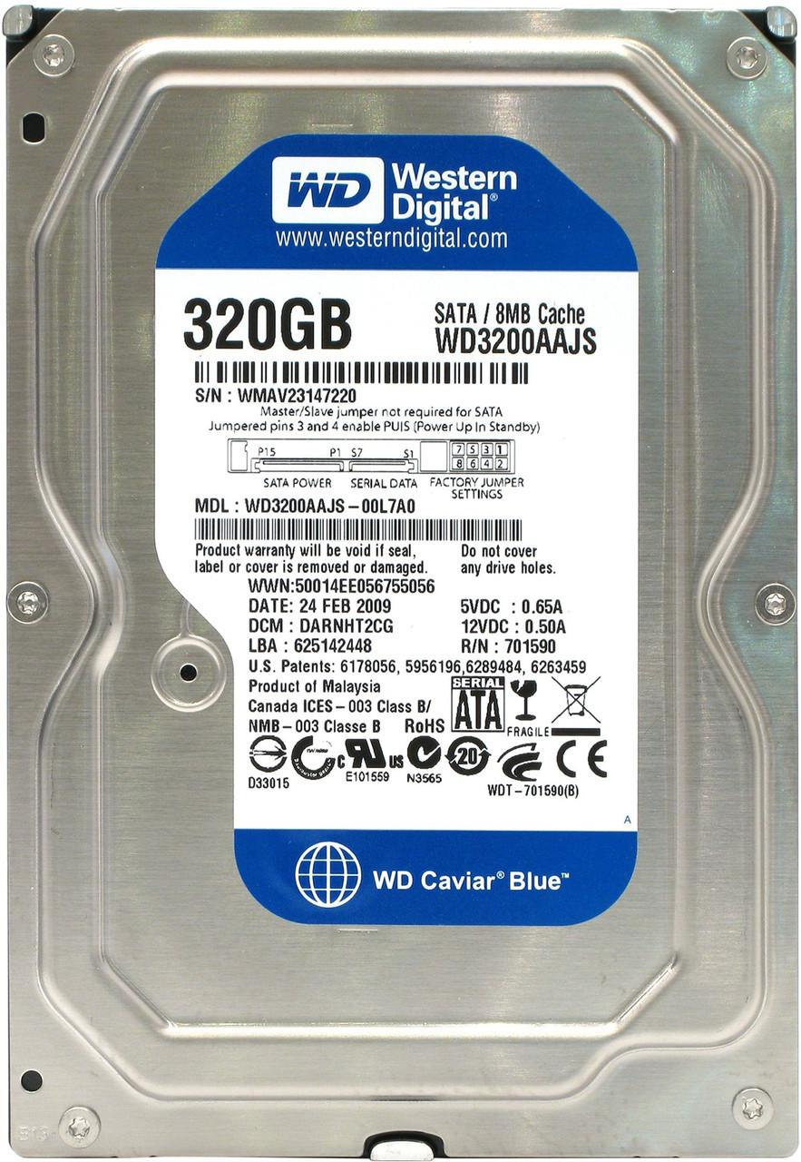 Жесткий диск HDD  WD 320Gb