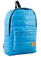 Стильный дутый рюкзак ST-15 от компании  Yes, голубой