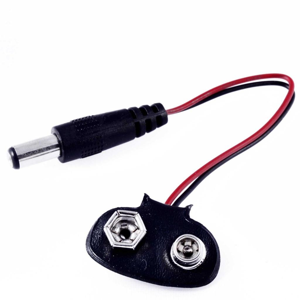 Адаптер питания Крона - 5.5мм коннектор, Arduino, коннектор батареи крона