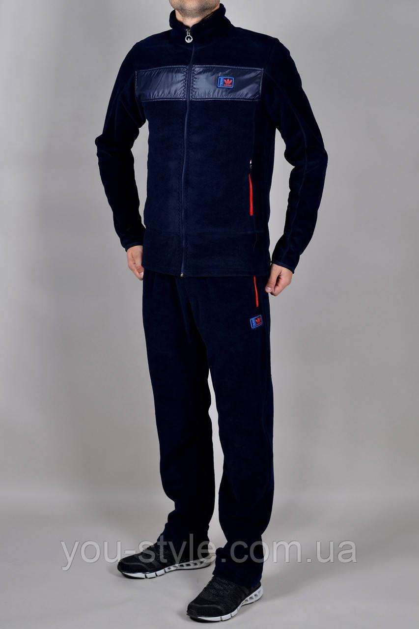 Зимовий чоловічий спортивний костюм Adidas 2271 Темно-синій