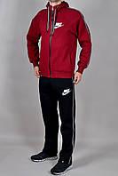 Зимний мужской спортивный костюм Nike 2278 Бордовый