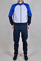 Зимний спортивный костюм мужской Nike 2333 Темно-синий, Серый