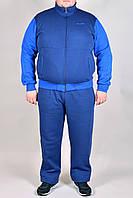 Зимний спортивный костюм Adidas батал 2324 Синий