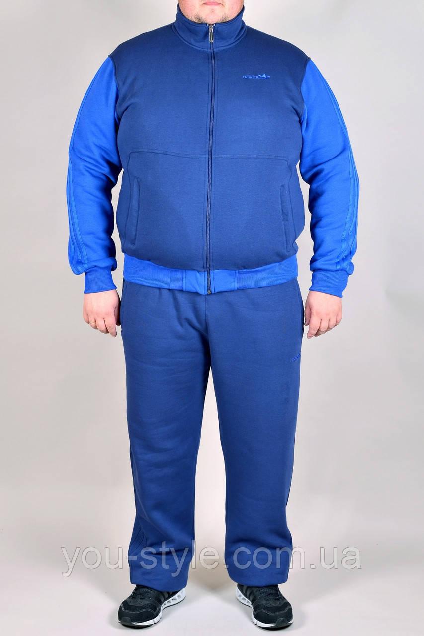 8ba0ef3e0dc7 Зимний спортивный костюм Adidas батал 2324 Синий - Интернет магазин