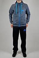 Зимний мужской спортивный костюм Nike 3101 Тёмно-синий