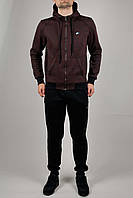 Зимний мужской спортивный костюм Nike 3157 Бордовый