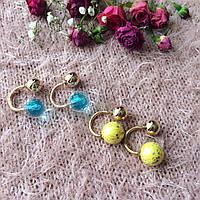 Летние серьги в двух цветах