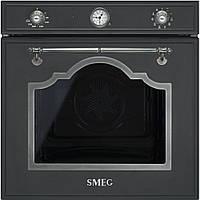 Духовой шкаф Smeg SF750AS антрацит + старинное серебро
