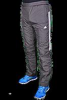 Зимние спортивные брюки на флисе Adidas 2247 Темно-серые