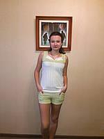 Пижама женская трикотажная   для сна и дома майка с шортами