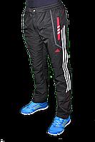 Зимние спортивные брюки на флисе Adidas 2249 Черные
