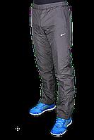 Зимние спортивные брюки Nike на флисе 2246 Темно-серые