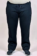 Зимние спортивные брюки Adidas батал 2344 Черные
