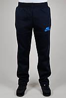Зимние мужкие спортивные брюки Nike 3139 Тёмно-синие