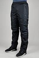 Зимние спортивные брюки Nike на флисе 3203 Чёрные