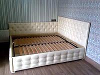 Кровать с подъемным механизмом 2000*1800 кожзам и пуговицы