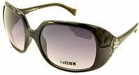 Солнцезащитные очки Soul №65 черные с белыми дужками