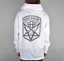 Худи белая Thrasher | Толстовка Huf asia logo