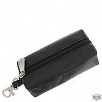 Кожаная ключница Visconti MZ18-PRATO черная