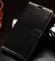 Кожаный чехол книжка для LG Leon H340N H320 H324 черный