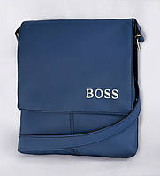 "Мужская сумка ""BOSS"" А 10 синяя"