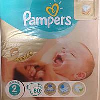 Pampers Premium care р.2 (3-6кг.) 80шт Памперсы для детей, подгузники для новорожденных